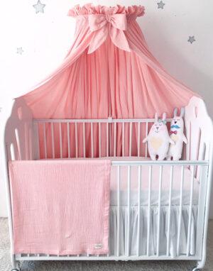Baldahiin beebivoodile #roosa