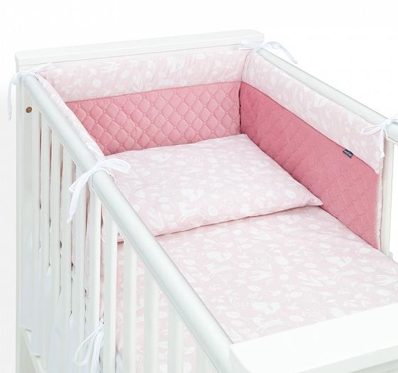 Voodipesukomplekt voodipehmendusega #roosa
