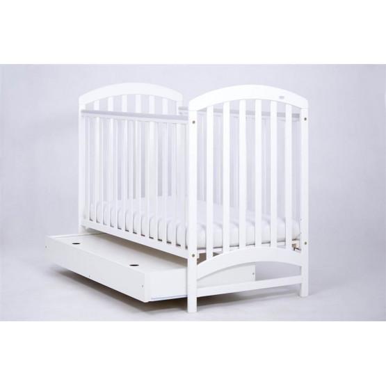 Võrevoodi Drewex ADEL voodikastiga on valmistatud männipuidust. Voodipõhjal kolm erinevat kõrgust. Kahel pool närimisvastane plastikust servakaitse.